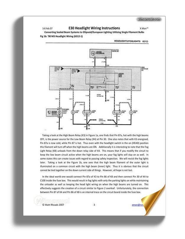 Bmw E30 Headlight Wiring Instructions