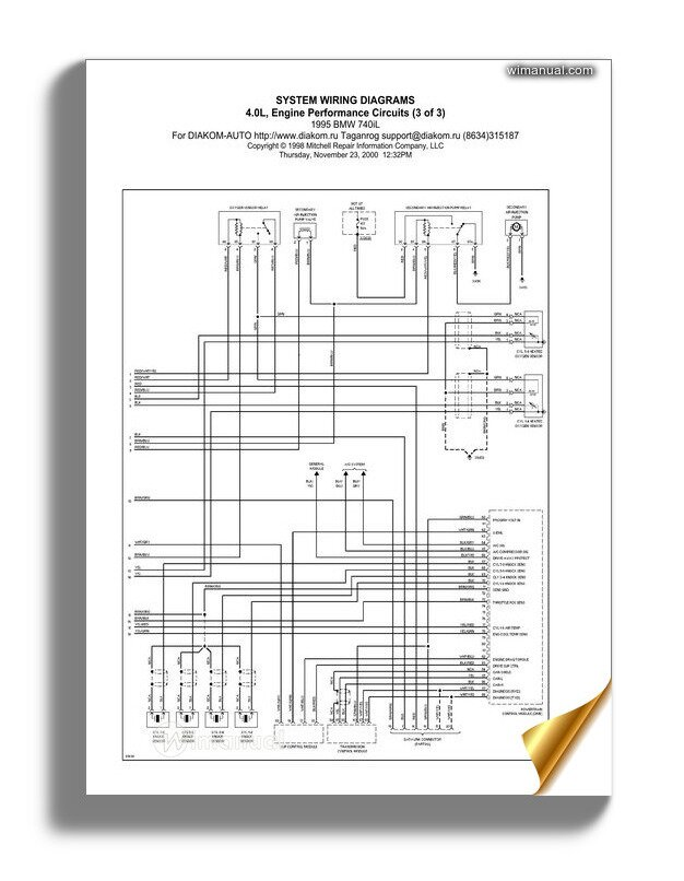 [DIAGRAM_3ER]  Bmw E38 740i System Wiring Diagrams | 1998 Bmw 740i Wiring Diagram |  | WiManual