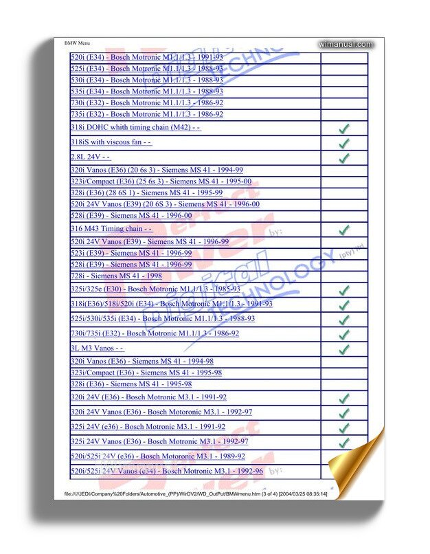 Bmw Ecu Wiring Diagrams Menu | 1998 Bmw 328i Ecu Wiring Diagram |  | WiManual