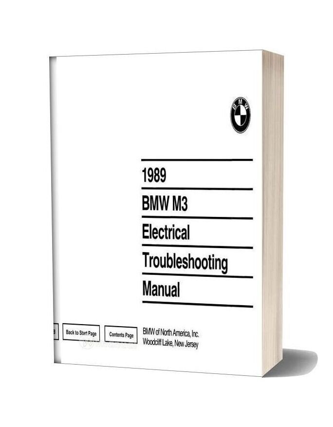 Bmw M3 1989 Electrical Troubleshooting Manual