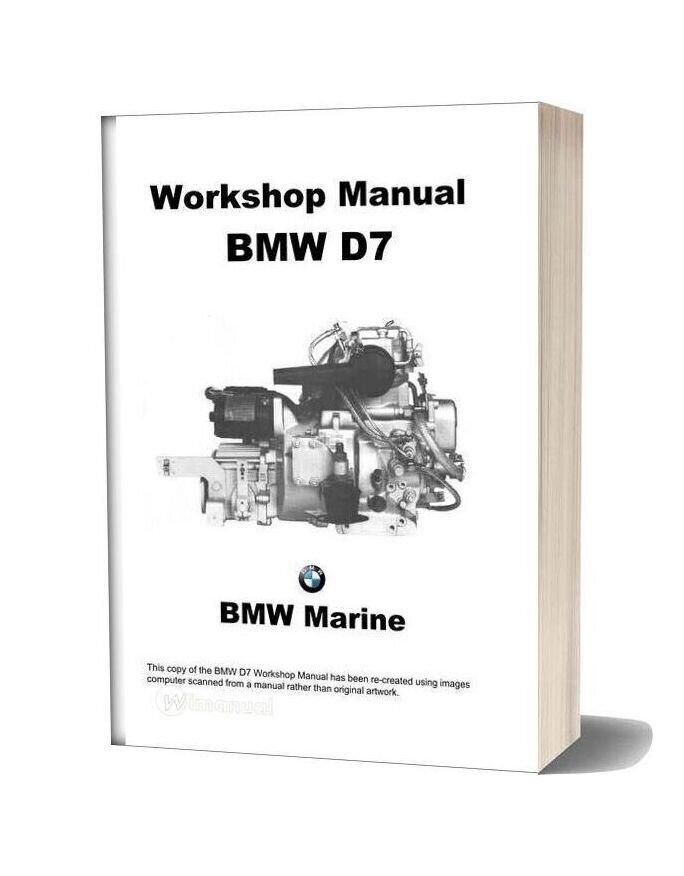 Bmw Marine Engines D7 Workshop Manual