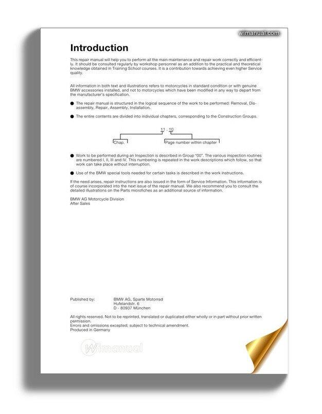bmw r1100s service repair manual. Black Bedroom Furniture Sets. Home Design Ideas