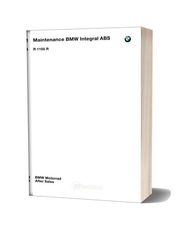 Bmw R1150 R Abs Maintenance Manual