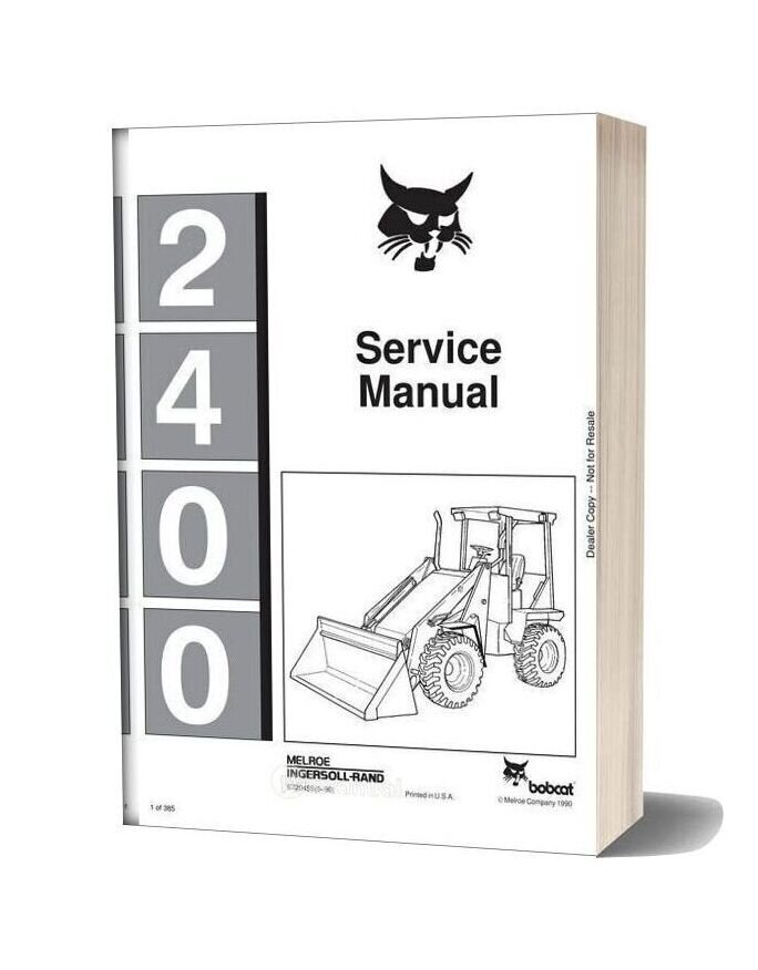 Bobcat 2400 Service Manual