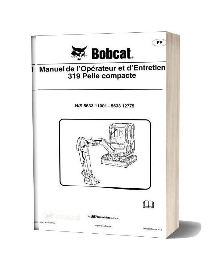 Bobcat 319 Service Manual In French