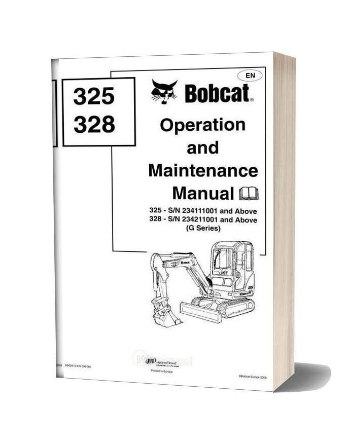 Bobcat 325 328 Operation Manual