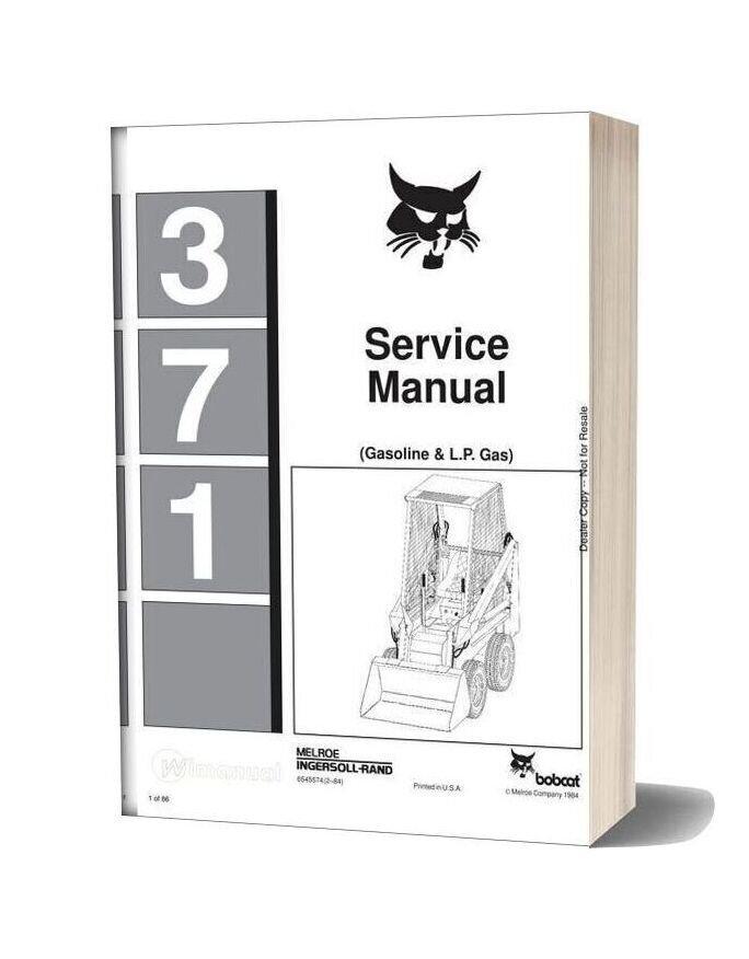 Bobcat 371 Service Manual