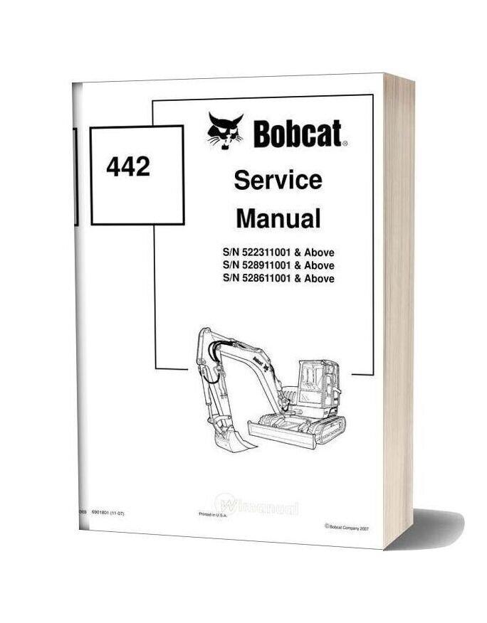 Bobcat 442 Mini Excavator Service Manual-16b16941