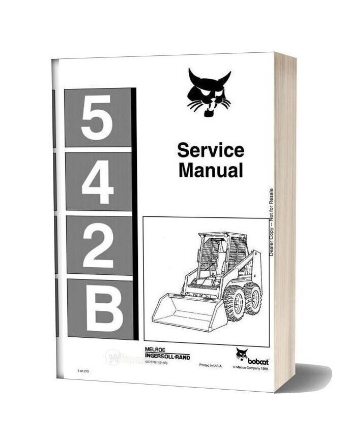 Bobcat 542b Service Manual