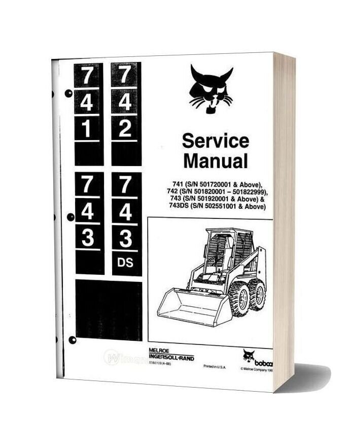 Bobcat 741 742 743 743ds Service Manual