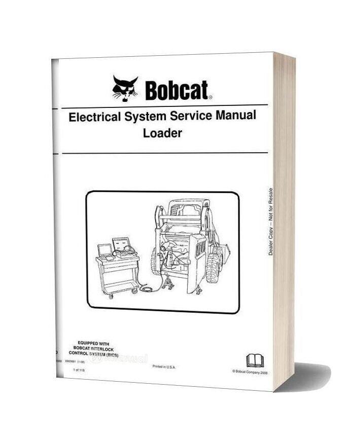 Bobcat Electrical System Service Manual Loader