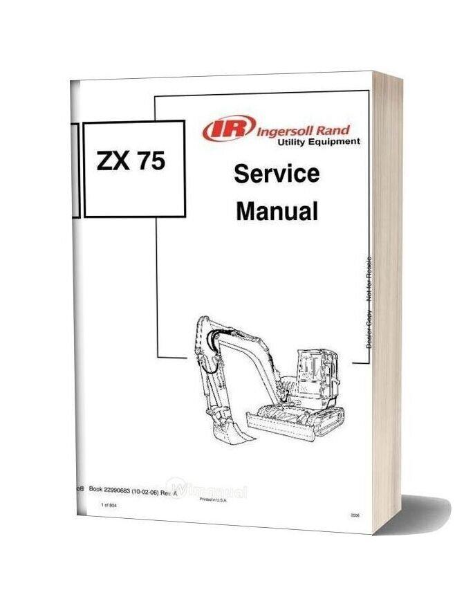 Bobcat Excavator Zx75 22990683 Service Manual