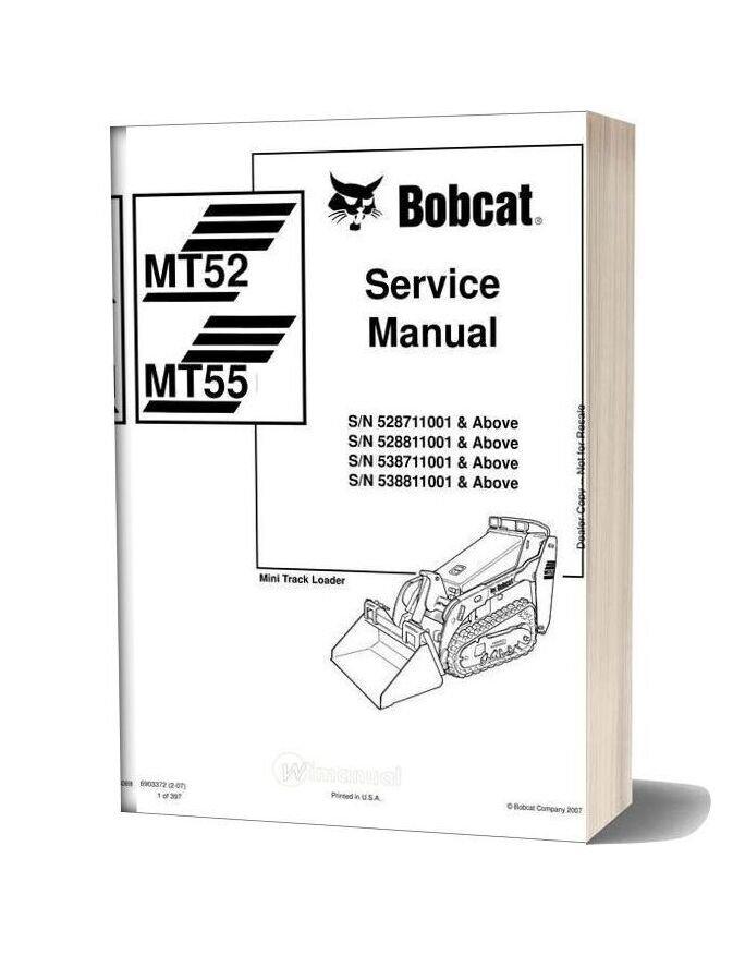 Bobcat Mt52 55 Service Manual