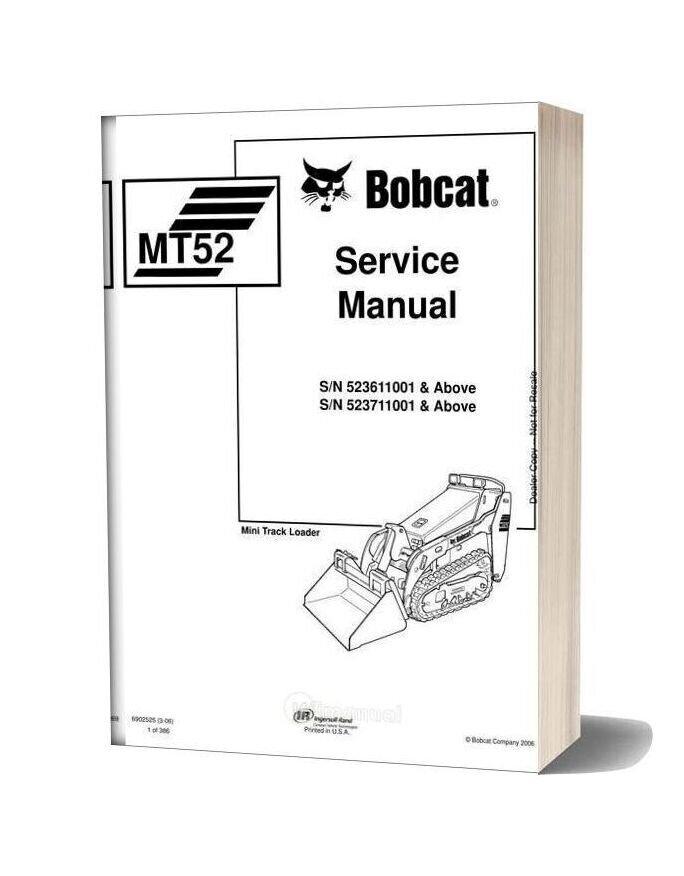 Bobcat Mt52 Service Manual