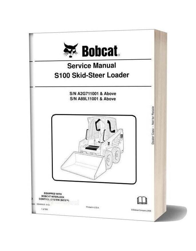 Bobcat S100 Skid Steer Loader Service Manual 6904926