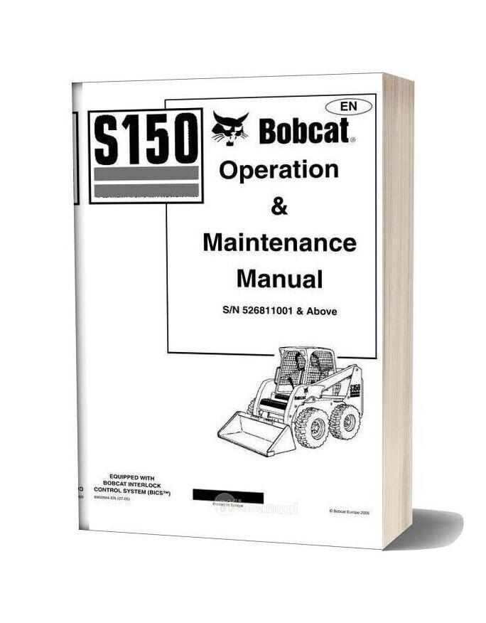 Bobcat S150 Operation Manual