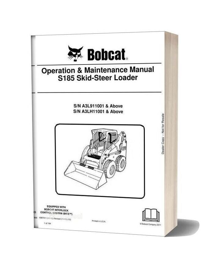 Bobcat S185 Skid Steer Shop Manual