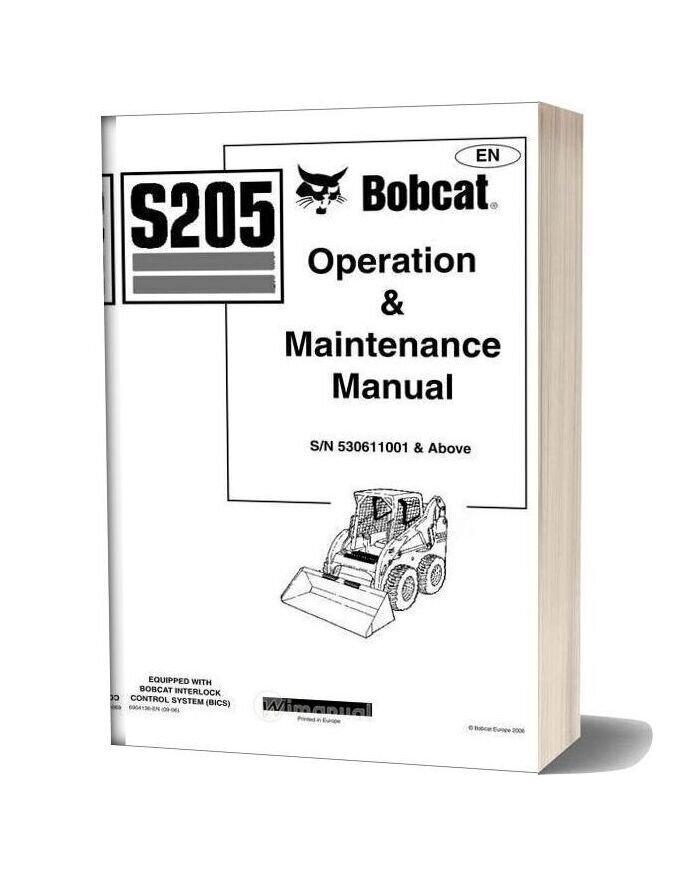 bobcat s205 shop manual. Black Bedroom Furniture Sets. Home Design Ideas