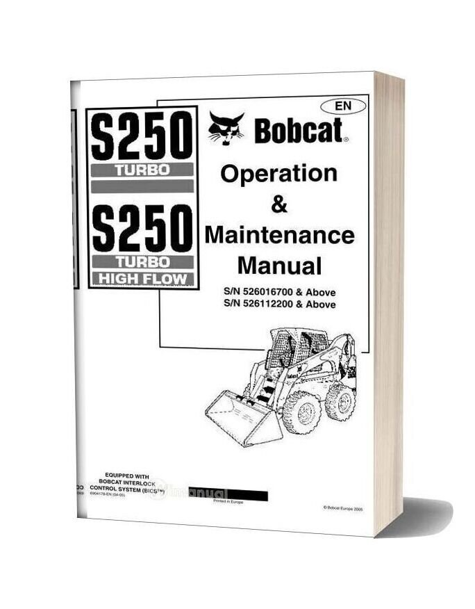 Bobcat S250 Operation Manual