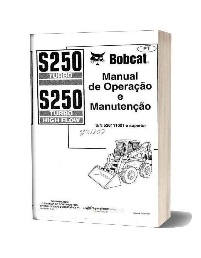 Bobcat S250 Turbo Operation And Maintenance Manual Spanish