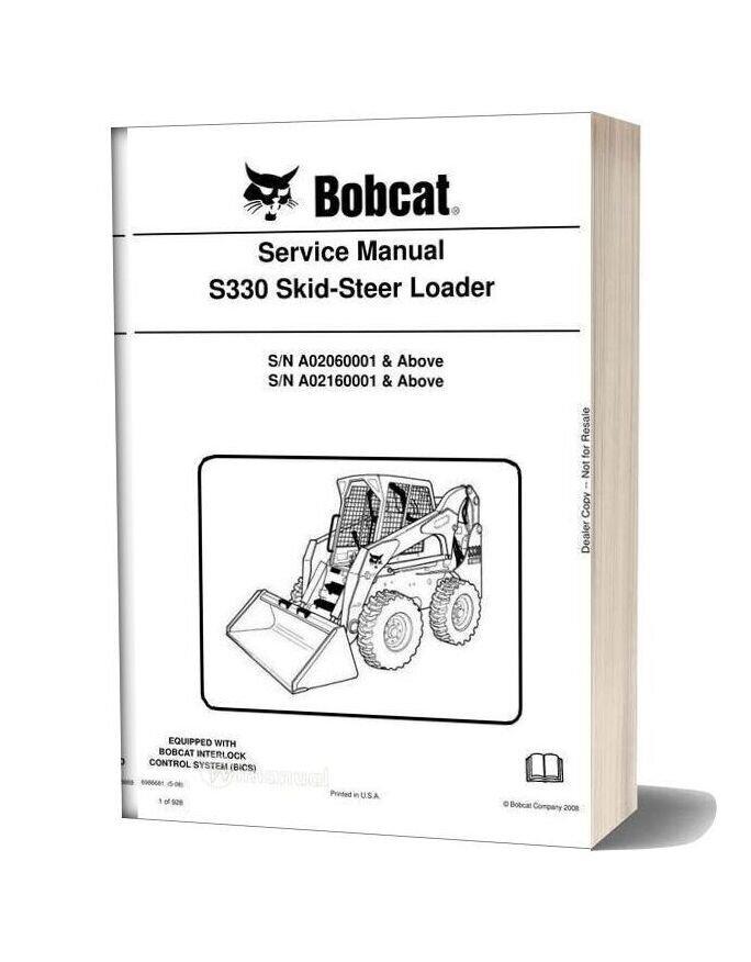 Bobcat S330 Hydraulic Excavator Service Manual 6986681