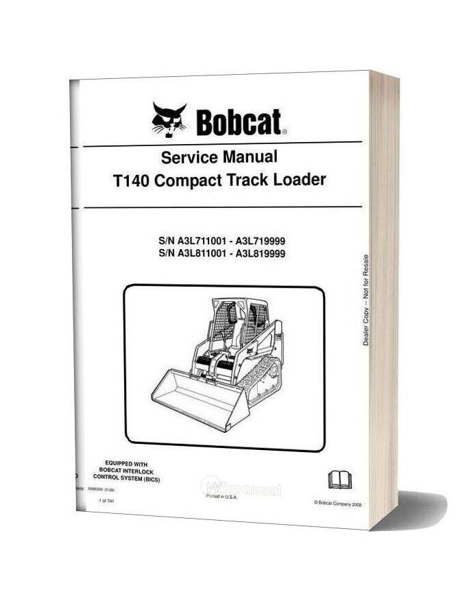 Bobcat T140 Hydraulic Excavator Service Manual 6986569