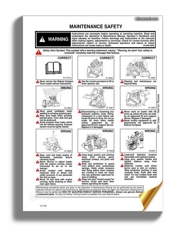 Bobcat T140 Hydraulic Excavator Service Manual 6987041