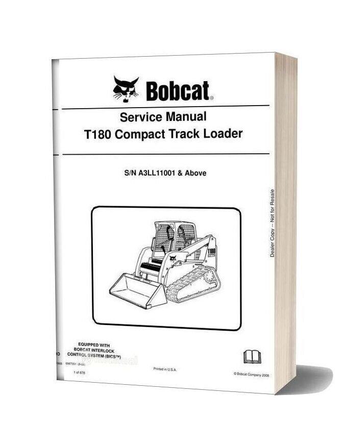 Bobcat T180 Hydraulic Excavator Service Manual 6987051