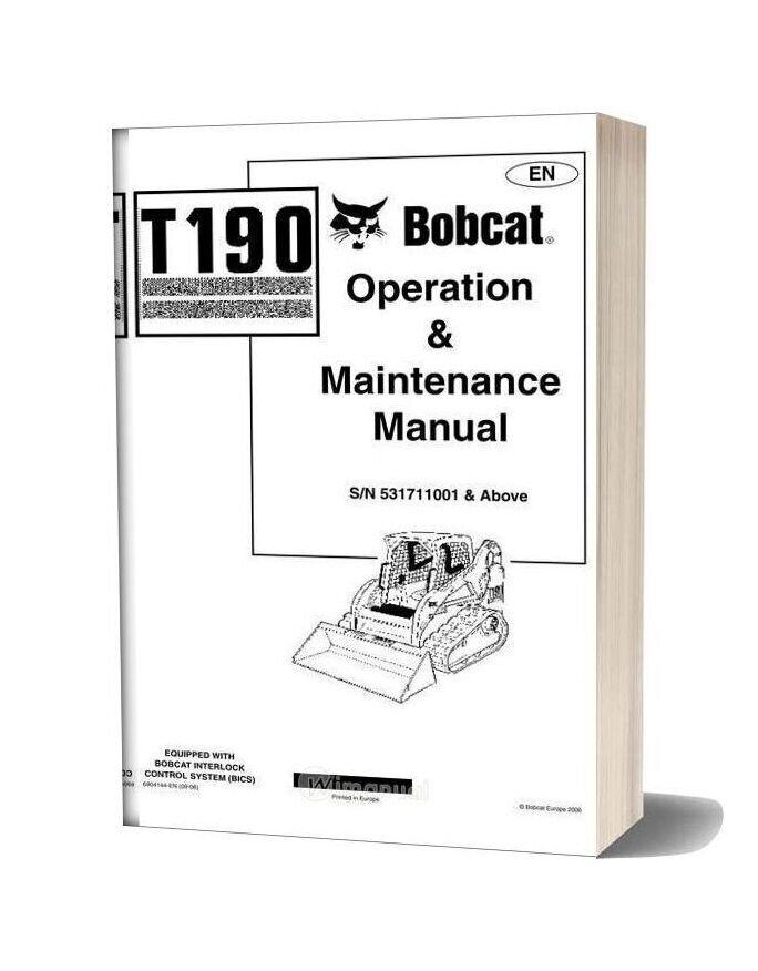 Bobcat T190 Shop Manual