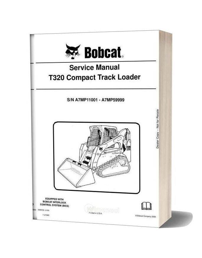 Bobcat T320 Hydraulic Excavator Service Manual 6986558-16b10685