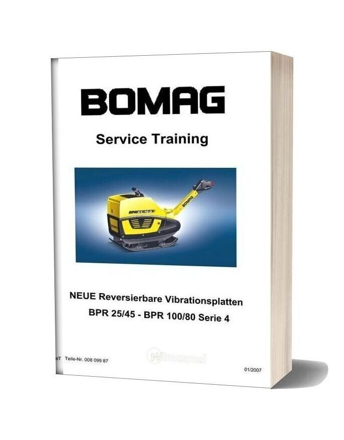 Bomag Bpr25 45 100 80 Serie 4 Service Training