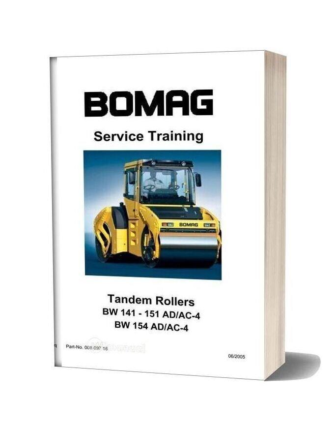 Bomag Bw141 151 154 Acad 4 Service Training