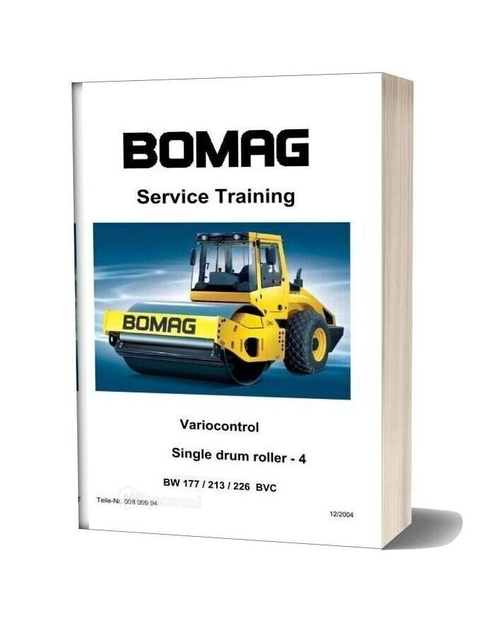 Bomag W177 Service Training