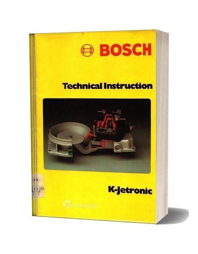 Bosch Technical Instruction K Jetronic