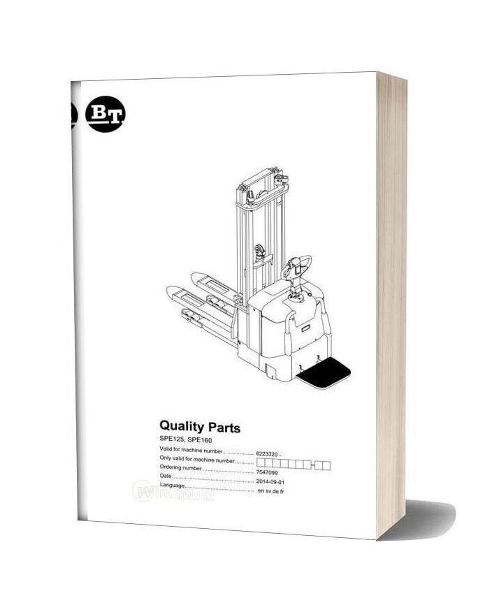 Bt Spe125 Spe160 Spare Parts