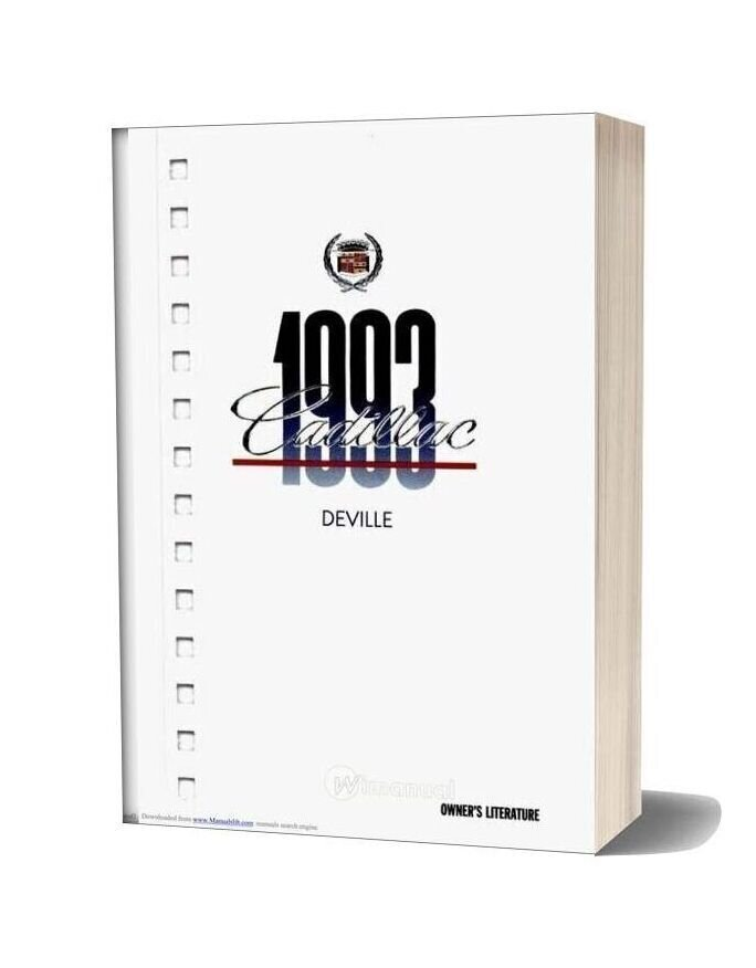 Cadillac Deville 1993 Service Reapair Manual