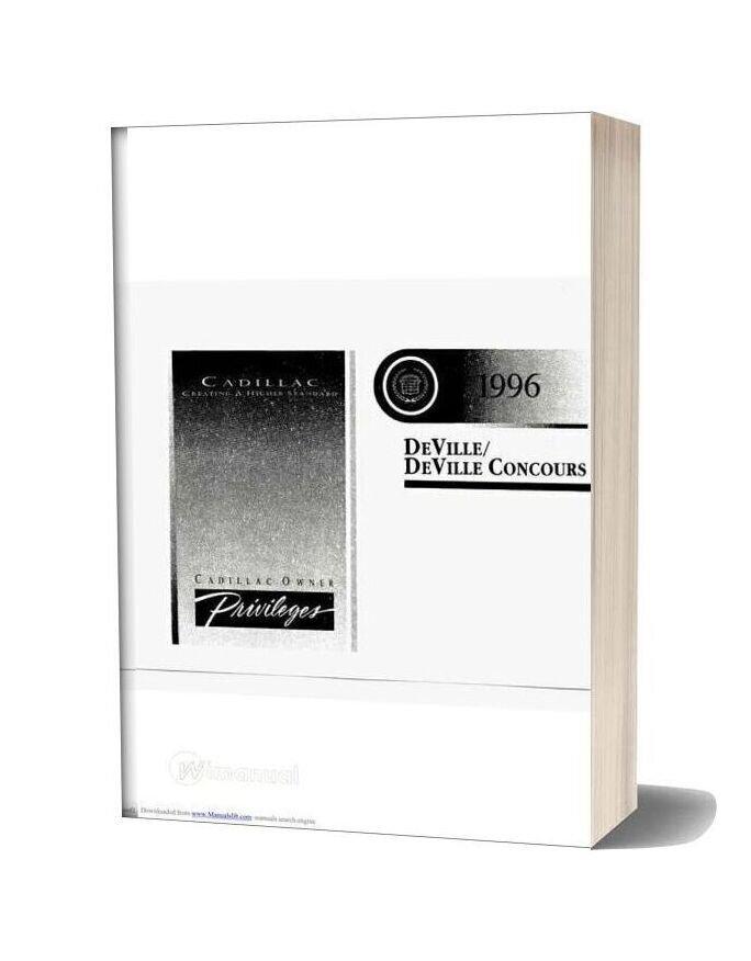 Cadillac Deville 1996 Service Reapair Manual