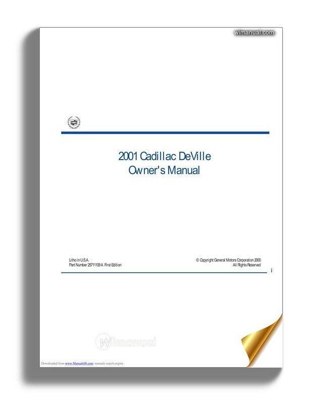 Cadillac Deville 2001 Service Reapair Manual