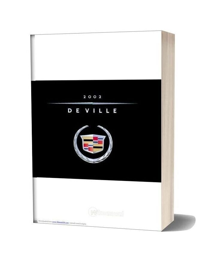 Cadillac Deville 2002 Service Reapair Manual