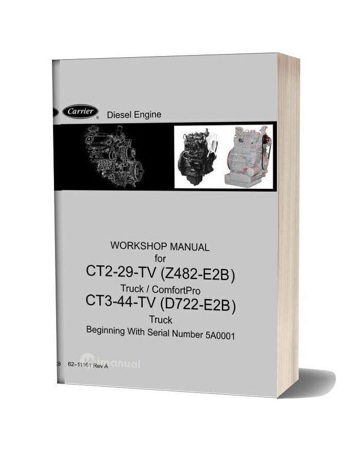 Carrier Ct2 29 Tv Z482 E2b Ct3 44 Tv D722 E2b Diesel Engine Workshop Manual