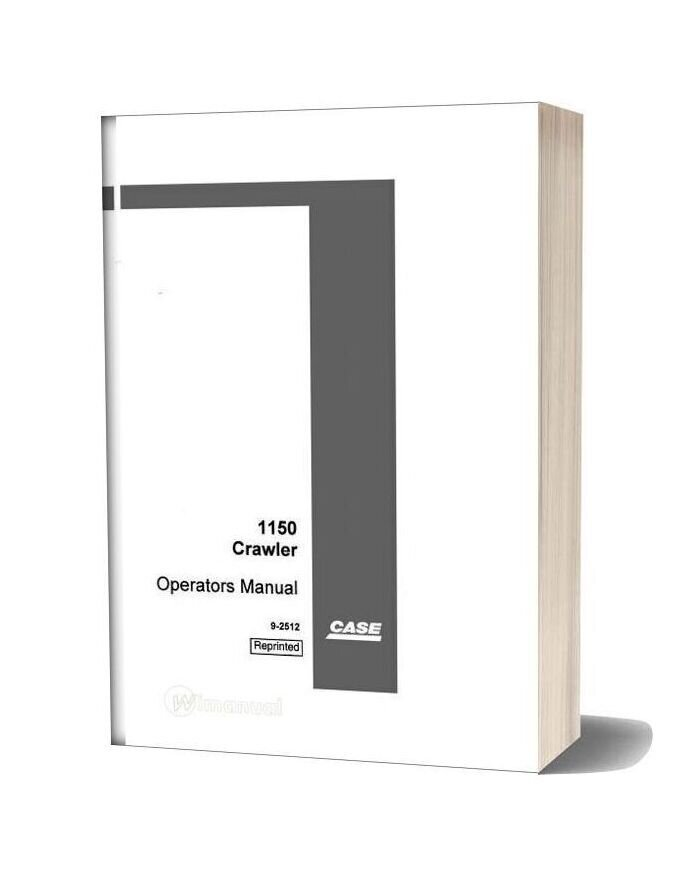 Case 1150 Operations Manual 7110300 After