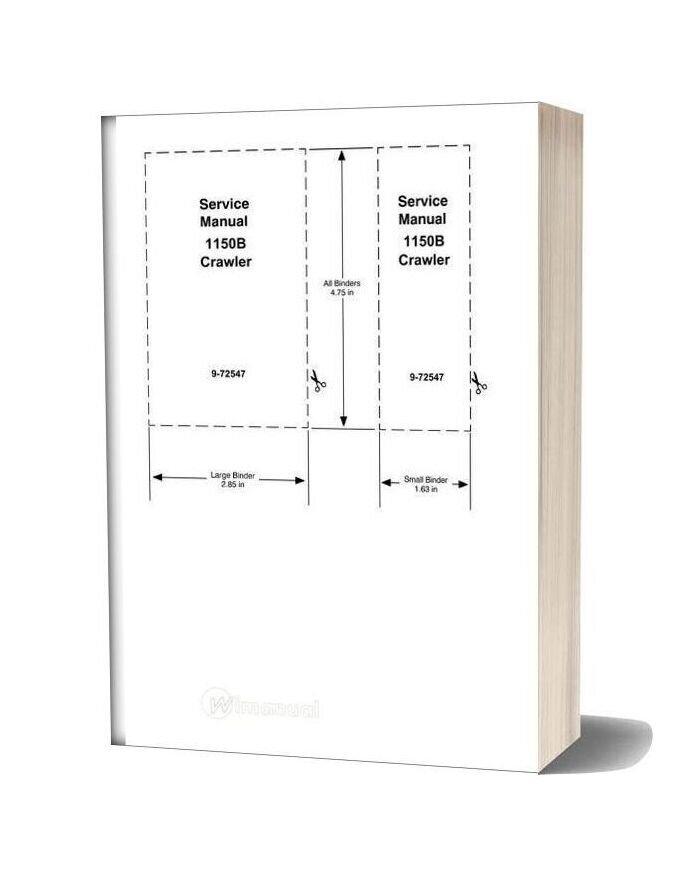Case 1150b Crawler Dozer Service Manual