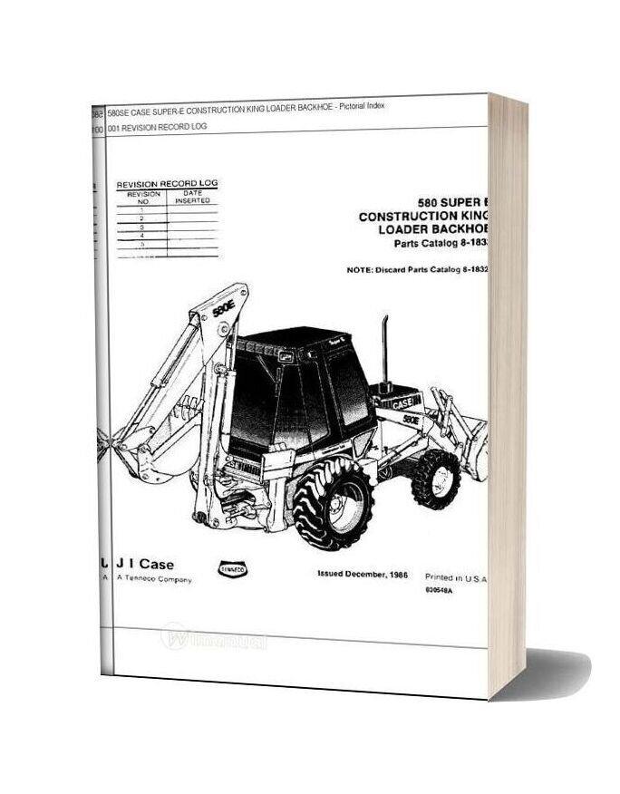 Case 580 E Parts Manual