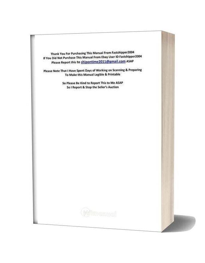 Case 580 Super E Operators Loader Backhoe Manual