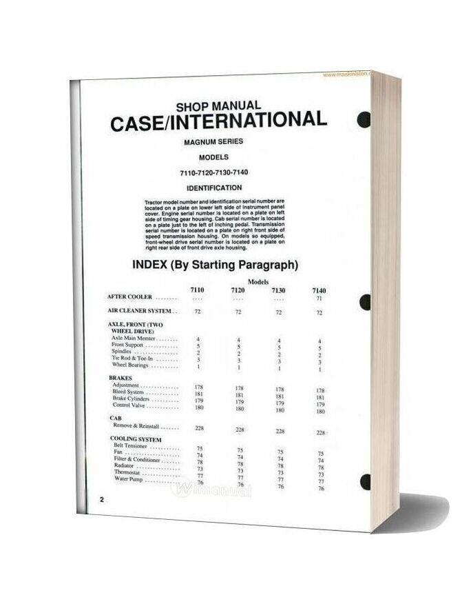 Case 7110 Shop Manual