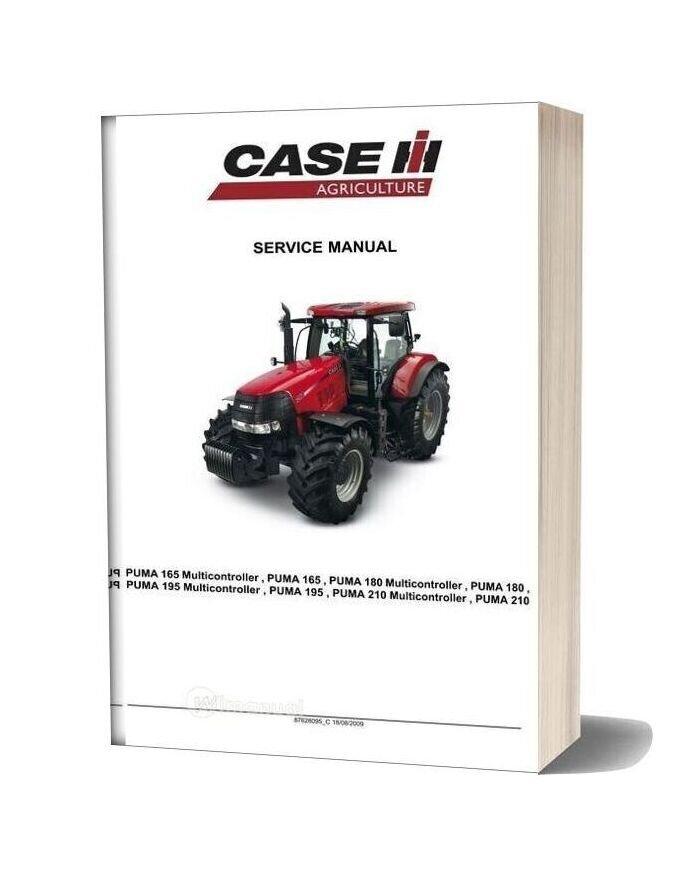 Case Agriculture Puma 165 180 195 210 Service Manual