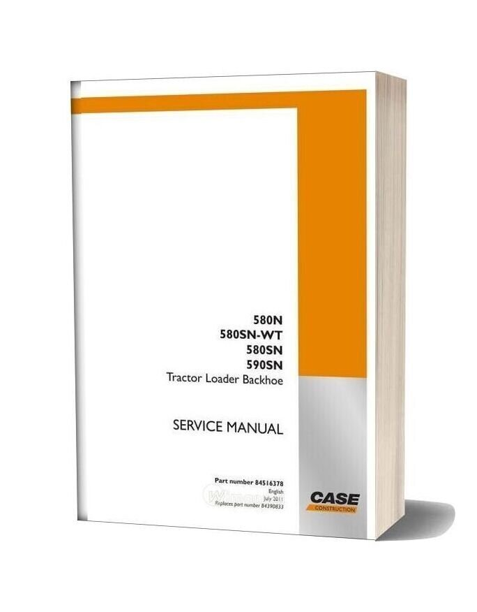Case Backhoe 580n Service Manual