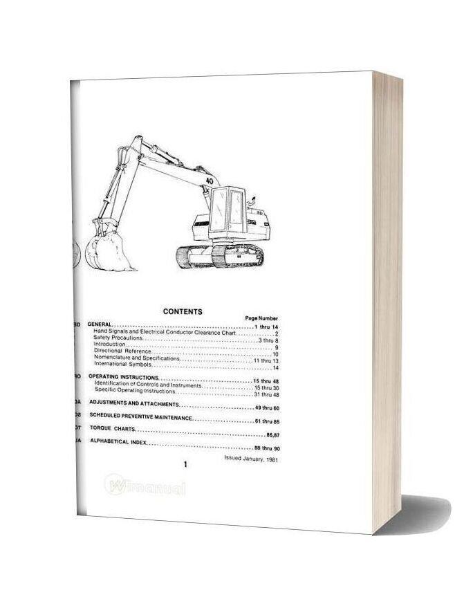 Case Crawler Excavator 40 E Series Operators Manual