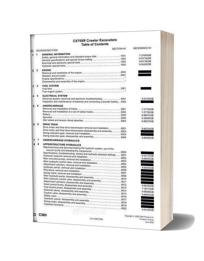 Case Cx75r Series Service Manual