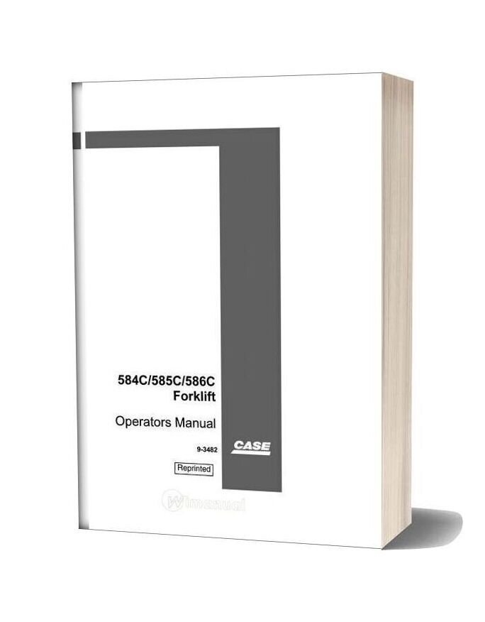 Case Forklift C Series Operators Manual